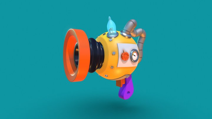 Cartoon weapon exercise 3D Model