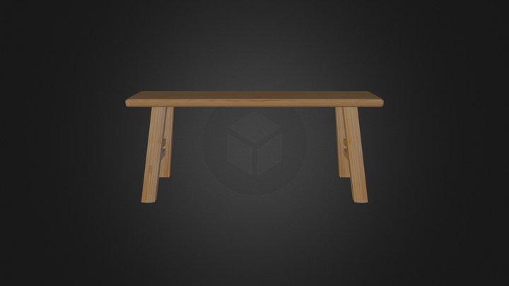 複斜角度板凳 3D Model