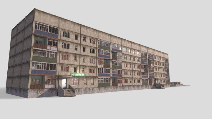 Russian panel house (asset) 3D Model