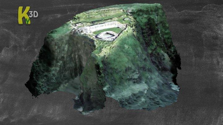 Dunbeg promontory fort - KE052-270001- 3D Model