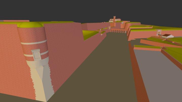 Porte de Canet à Perpignan 3D Model