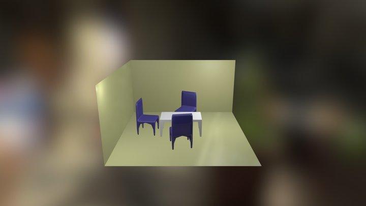 Salon d'essai 3D Model