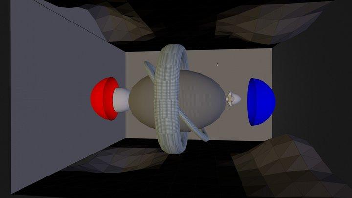 Alcubierre Drive Spaceship in Motion (Schematic) 3D Model