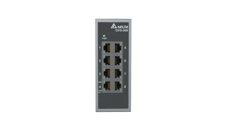 DVS-008I00 Unmanaged Fast Ethernet Switch 3D Model
