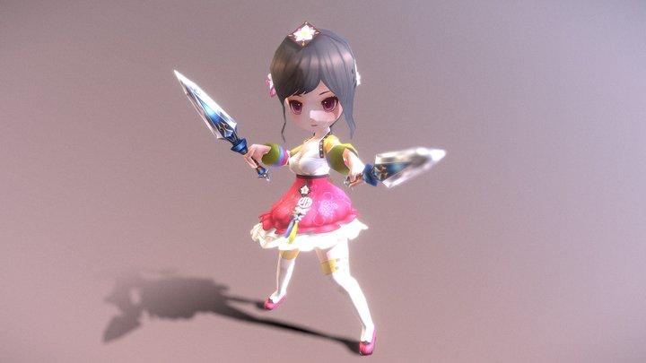 Casual RPG Character - 30 Wharan 3D Model