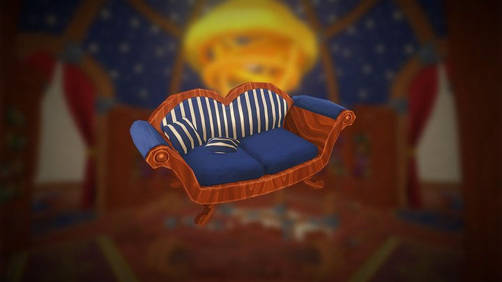 Mozilla Hubs Challenge - Couch 3D Model
