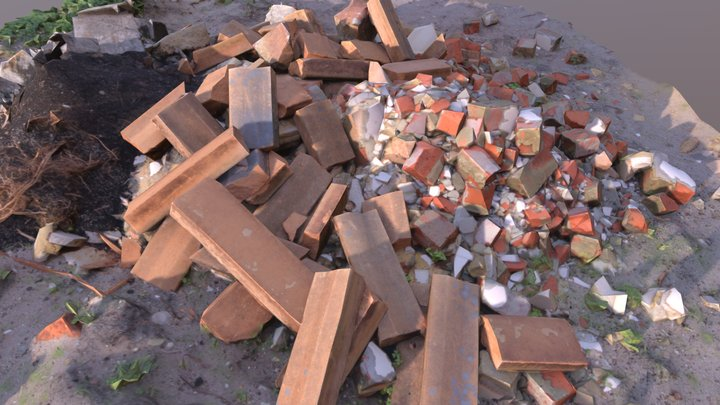 Brick Pile 8 3D Model