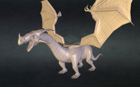 Rigged Dragon 3D Model