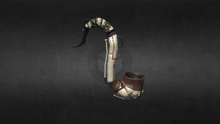 Steampunk pipe 3D Model