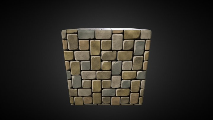 patio_pavers_stylized 3D Model