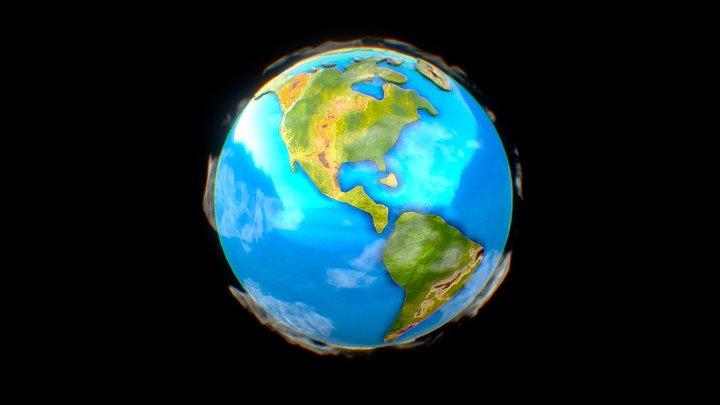 Little Planet Earth 3D Model