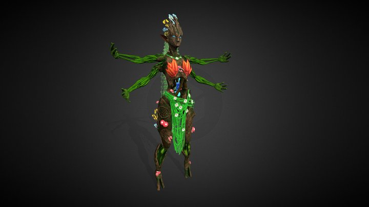 Forest Goddess Serenity 3D Model