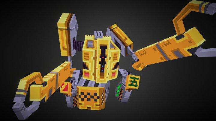 Worker 5 3D Model