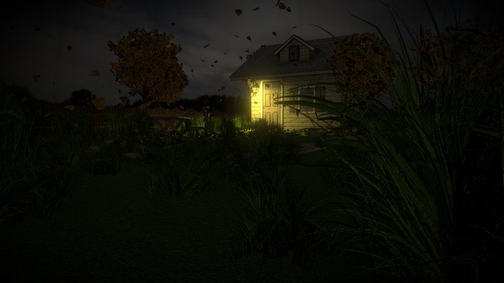 The House in the Night 3D Model