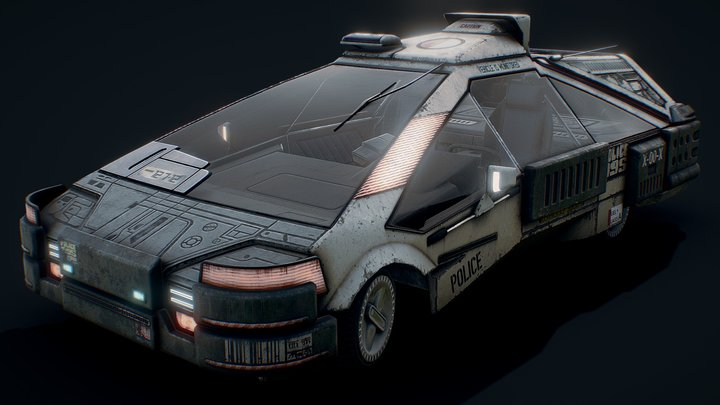 2019 Blade Runner Ground Police Car 3D Model