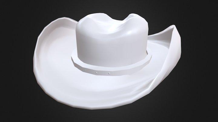Old Western Cowboy Hat 3D Model