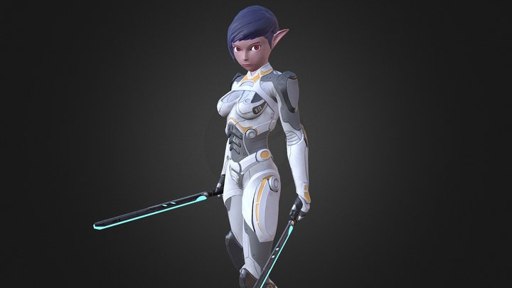 Sci-Fi Elf 3D Model