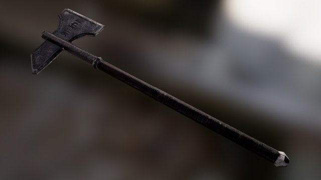 Lord of the Rings Weapon Dwalin's Axe Low Poly 3D Model