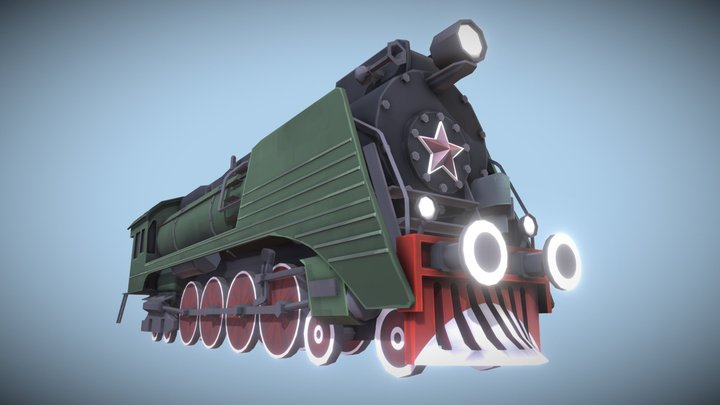 TF2 Soviet Locomotive 3D Model