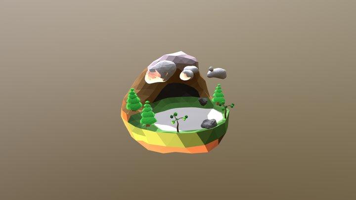 Low Poly Island 3D Model