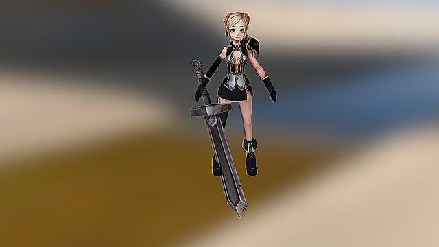 Koyuki - Sword of Scyllia RPG 3D Model