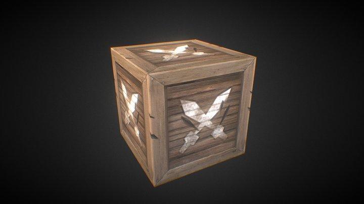 Wooden Box Texture Test 3D Model