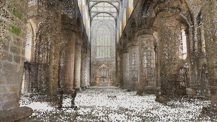 Scotland: Dunfermline, Abbey nave interior 3D Model