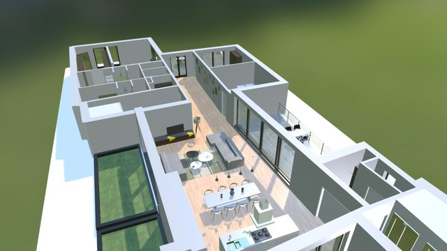 coupe appartement 3D Model