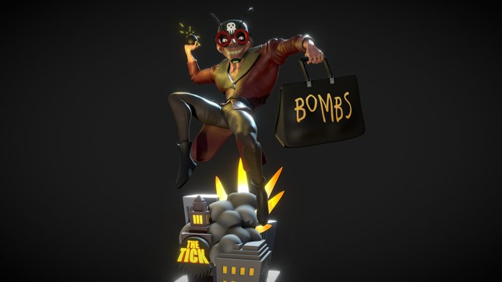 The Evil Midnight Bomber What Bombs at Midnight 3D Model