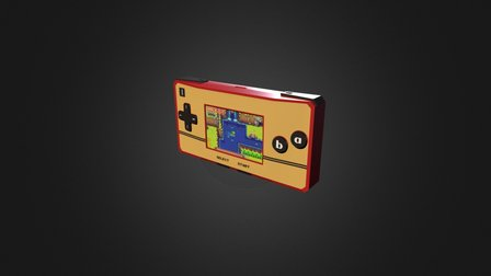 Low Poly Game Boy Micro 3D Model