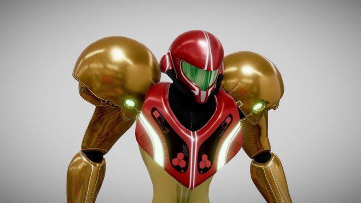 Samus Aran Varia Suit Rigged 3D Model