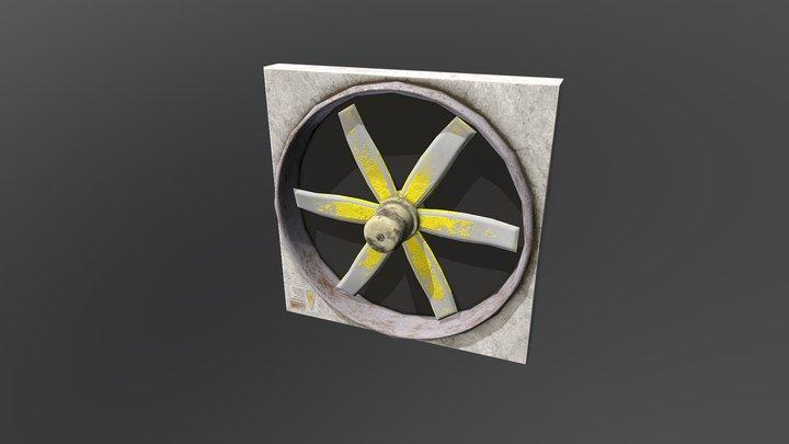 Ventilator Low Poly 3D Model