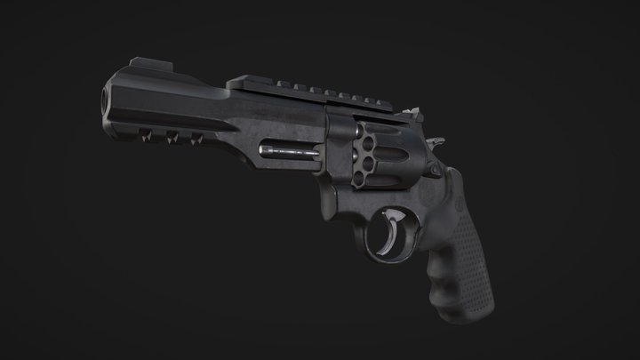 Smith & Wesson R8 Revolver 3D Model