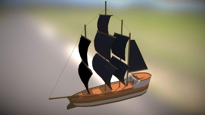 Pirate Ship 2 3D Model
