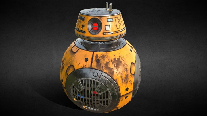 BB-9E Star Wars Abejorro 3D Model