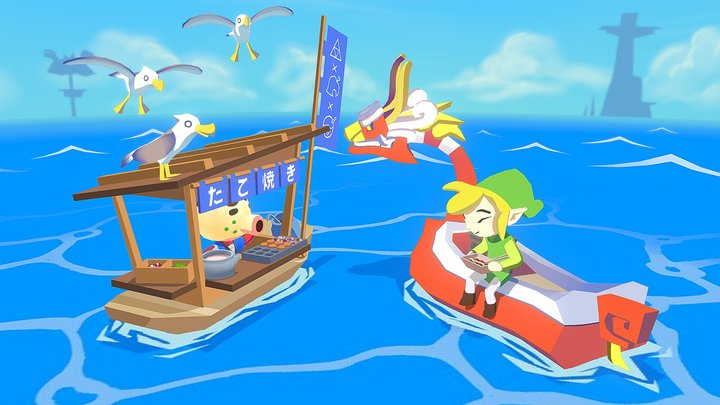 Wind Waker x Animal Crossing Food Cart Challenge 3D Model