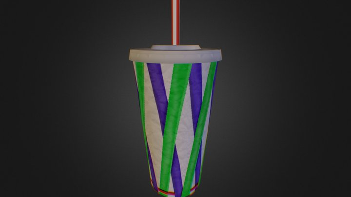 Low Poly Soda Cup 3D Model