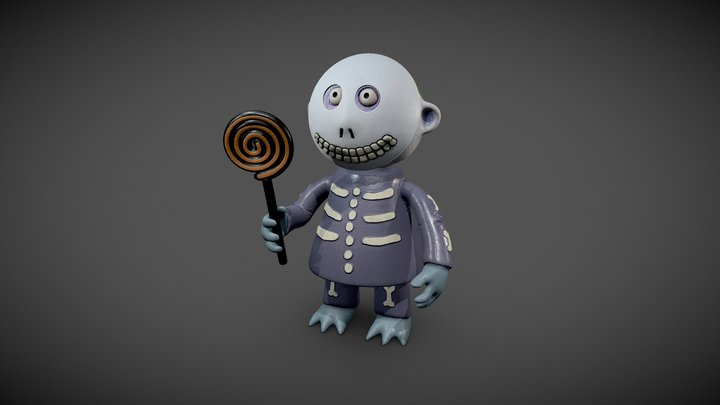 barrel from nightmare before christmas 3D Model