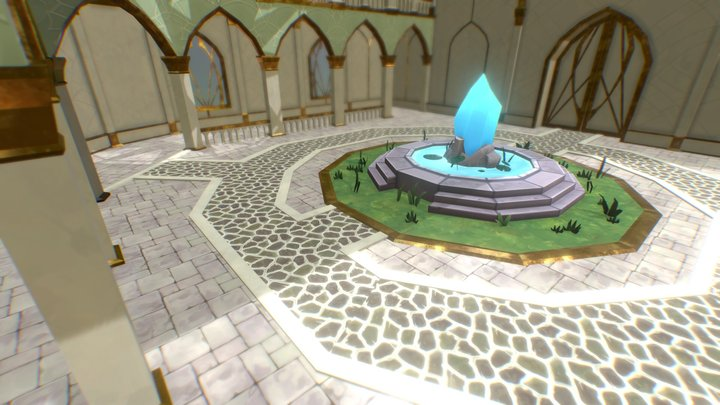 Crystal Sanctuary 3D Model