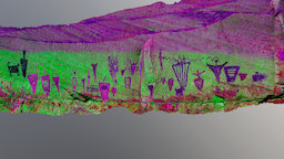 Horseshoe Shelter Rock Art Panel,UT-DStretch 3D Model