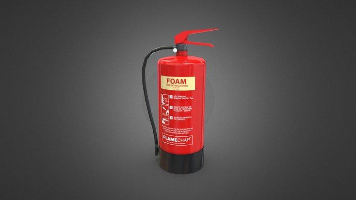 Modern Fire Extinguisher 3D Model