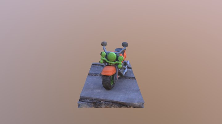 Kids Toy - Motocycle 3D Model