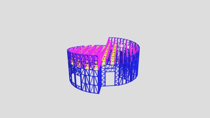 рассеченый круг модель 3D Model