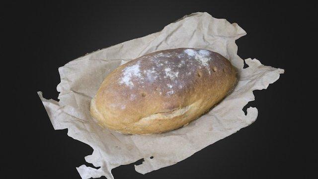 German Bread 3D Model