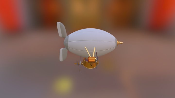 The Bostonius Airship 3D Model