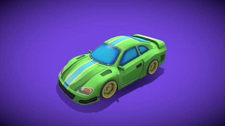 Sport cars green 3D Model