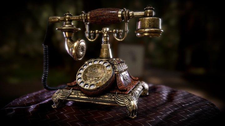 [PBR] 1921 Victorian Style Vintage Phone 3D Model