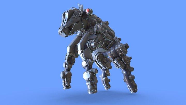 Okapi Mech VRsculpt kitbash #MechAnimalChallenge 3D Model
