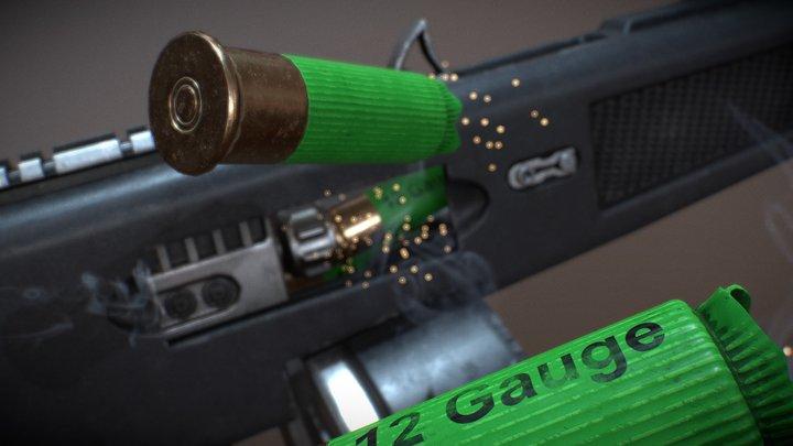 AA12 Shotgun 3D Model