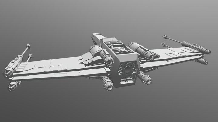 [Untextured] Star Wars T-65B X-Wing 3D Model